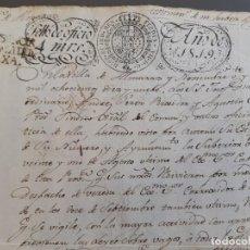 Timbres: PAPEL OFICIAL, MARCA PLASENCIA , FIRMA ALCALDE ALMARAZ 1819. Lote 205795291