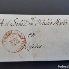 Sellos: CARTA COMPLETA MARCA CORELLA NAVARRA, A ALGEDAS, 1848. Lote 205809876