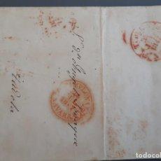 Sellos: CARTA COMPLETA MARCAS PAMPLONA TUDELA NAVARRA, 1847. Lote 205810700