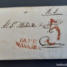 Sellos: CARTA COMPLETA MARCA PAMPLONA NAVARRA A CASCANTE, 1829. Lote 205813851