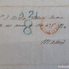 Sellos: CARTA COMPLETA MARCA BARCELONA A MADRID, 1843, TEXTO INTERESANTE. Lote 205815145
