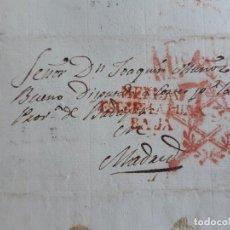 Timbres: CARTA COMPLETA, MARCA MÉRIDA BADAJOZ Y DOBLE FRANQUICIA DIPUTADOS, 1841. Lote 205875552