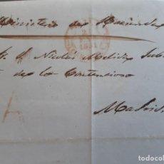 Timbres: CARTA COMPLETA, MARCAS ÁVILA Y A ABONO , 1851. Lote 205883853