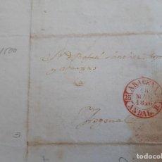 Timbres: CARTA COMPLETA, MARCA ARACENA HUELVA , 1846. Lote 205896475