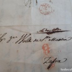 Timbres: CURIOSA CARTA DE 1855, ANOTACIÓN NO HAY SELLOS, LLERENA A ZAFRA BADAJOZ. Lote 206048117