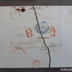 Timbres: CARTA COMPLETA, MARCAS MADRID AZUL Y LLERENA. Lote 206120115