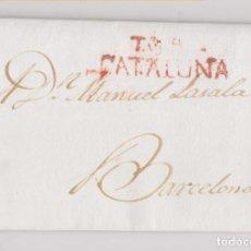 Selos: PREFILATELIA. CARTA ENTERA. TARRAGONA A BARCELONA. 1835. Lote 206167972