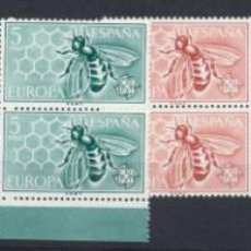 Sellos: ESPAÑA 1962. EUROPA BLOQUE DE CUATRO. EDIFIL 1448-49 **. Lote 221526830
