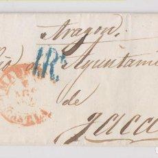 Sellos: PREFILATELIA. CIRCULAR DE MADRID AL SECRETARIO DEL AYUNTAMIENTO DE JACA, HUESCA. 1848. Lote 206424681