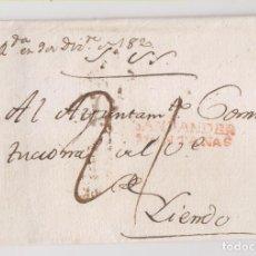 Sellos: PREFILATELIA. ENVUELTA DEL S. N. DE SANTANDER A LIENDO. CANTABRIA. AYUNTAMIENTO CONSTITUCIONAL. 1820. Lote 206428403