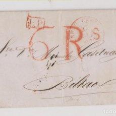 Sellos: PREFILATELIA. CARTA ENTERA BURDEOS A BILBAO. 1837. DE LOS BANQUEROS VASCOS AGUIRREBENGOA ET FILS. Lote 206429188