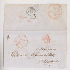 Sellos: PREFILATELIA. ENVUELTA. BURDEOS A MADRID. 1842. PRECIOSO FECHADOR DE LLEGADA. Lote 206430446