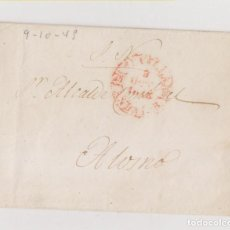 Sellos: PREFILATELIA. ENVUELTA DEL SERVICIO NACIONAL DE SEVILLA AL ALCALDE DE ALOSNO. HUELVA. 1845. Lote 206454082