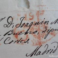 Selos: CARTA COMPLETA, MARCAS SALAMANCA Y FRANQUICIA DIPUTADOS Y SEN., 1841. Lote 206870743