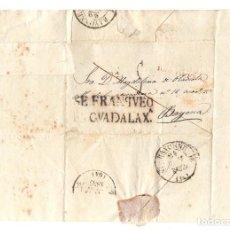 Timbres: SOBRE PREFILATELIA GUADALAJARA A BAYONA, FRANCIA. AÑO 1837. Lote 206876865