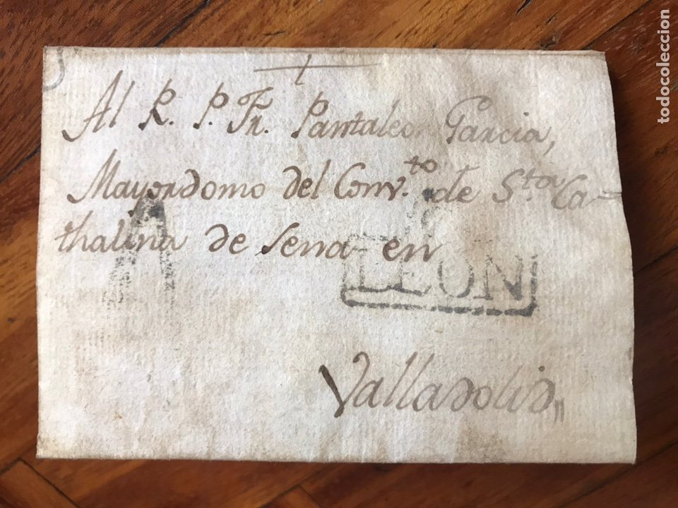 1804. LA PUEBLA DE LILLO. MARCA NEGRA LEÓN. ENVIADA A VALLADOLID. (Filatelia - Sellos - Prefilatelia)