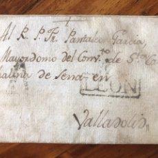 Sellos: 1804. LA PUEBLA DE LILLO. MARCA NEGRA LEÓN. ENVIADA A VALLADOLID.. Lote 206963298