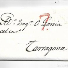 Sellos: SOBRE - CARTA PREFILATELIA - 1835 - REVUELTAS ANTICLARICALES A BARCELONA. Lote 207079032