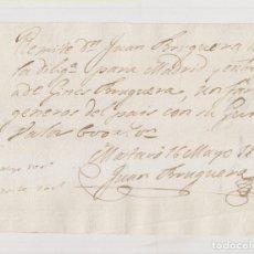Sellos: RECIBO DILIGENCIA. MATARÓ. BARCELONA. A MADRID. 1835. JUAN BRUGUERA.. Lote 207106486