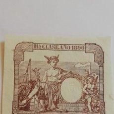 Sellos: SELLO FISCAL 11ª CLASE AÑO 1890 UNA PESETA. Lote 209709050