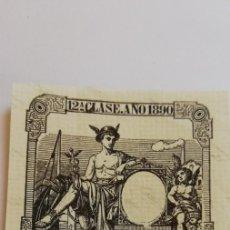 Sellos: SELLO FISCAL 12ª CLASE AÑO 1890 75 CENT DE PESETA. Lote 209709425