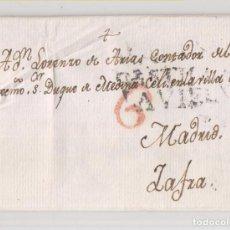 Selos: PREFILATELIA. CARTA ENTERA. SALAMANCA A ZAFRA, BADAJOZ. 1804. Lote 209790186