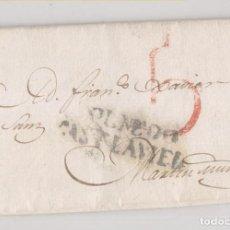 Sellos: PREFILATELIA. CARTA ENTERA. OLMEDO, VALLADOLID, A MARTÍN MUÑOZ, SEGOVIA. 1830. Lote 209858040