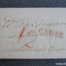 Timbres: PREFILATELIA CARTA CÁDIZ A VILLAFRANCA DEL BIERZO LEÓN AÑO 1831 BONITA PORTEO 12. Lote 210308115