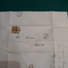 Sellos: 1862 SEVILLA PICKMAN CÍA LOZA FABRICA LA CARTUJA ENVIADA CORUÑA MATASELLO CORUÑA SEVILLA. Lote 210368062