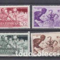 Sellos: GUINEA 1954. PRO INDÍGENAS. EDIFIL 334-37 **. Lote 210958844