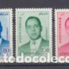 Timbres: 1957. MARRUECOS REINO INDEPENDIENTE. EDIFIL 24-26 **. Lote 210958866