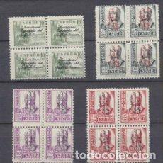 Sellos: GUINEA 1939. HABILITADOS EDIFIL 256-59 **. Lote 210958886