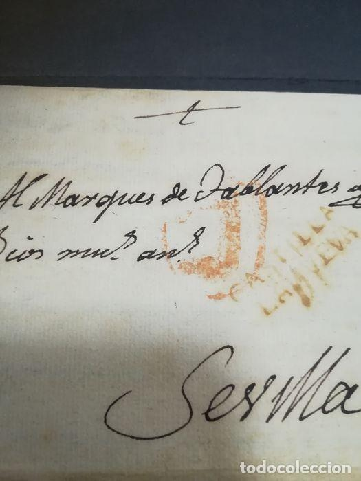 Sellos: Prefilatelia. Carta de Sevilla. Marques de Tablantes. Marca de Villarejo de Salvanes en Madrid. 1796 - Foto 3 - 214313783