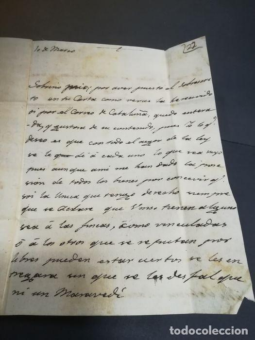 Sellos: Prefilatelia. Carta de Sevilla. Marques de Tablantes. Marca de Villarejo de Salvanes en Madrid. 1796 - Foto 6 - 214313783