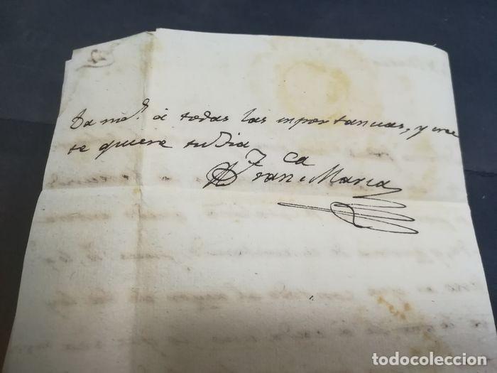 Sellos: Prefilatelia. Carta de Sevilla. Marques de Tablantes. Marca de Villarejo de Salvanes en Madrid. 1796 - Foto 9 - 214313783