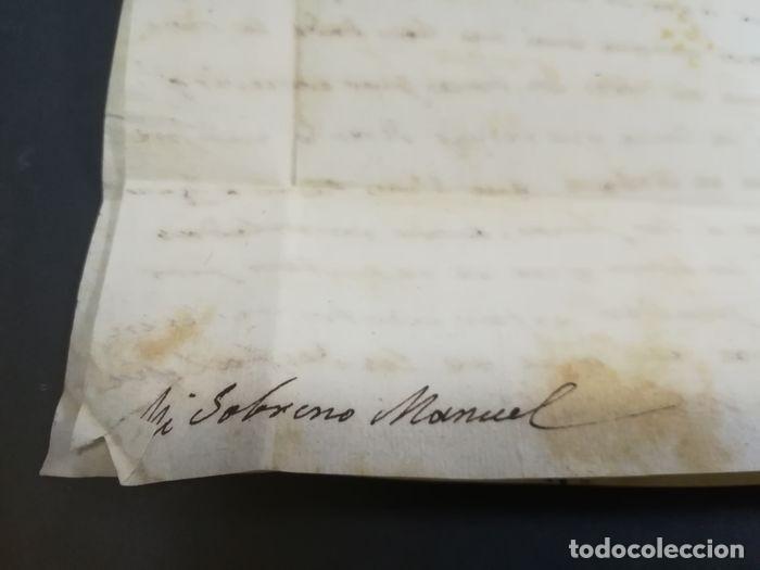 Sellos: Prefilatelia. Carta de Sevilla. Marques de Tablantes. Marca de Villarejo de Salvanes en Madrid. 1796 - Foto 10 - 214313783