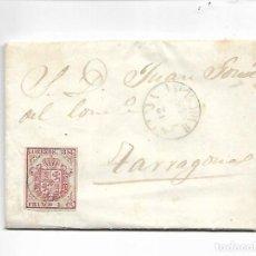 Sellos: CARTA PREFILATELIA - AÑO 1855 - DE BLANES A TARRAGONA. Lote 215351665