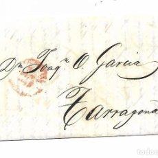 Sellos: CARTA PREFILATELIA - AÑO 1847 - DE MADRID A TARRAGONA. Lote 215352185