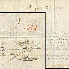 Francobolli: 1843 FRAUDE AL CORREO, FECHADA EN BAYONA Y CON MARCA FRANCO USO GENERAL NEGRA EN IRUN. Lote 215396287