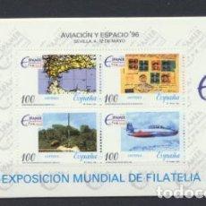 Selos: ESPAÑA 1996. AVIACIÓN Y ESPACIO HB EDIFIL 3433 **. Lote 215978758