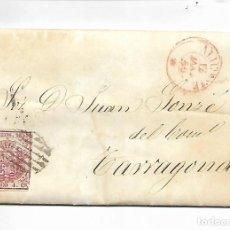 Sellos: CARTA PREFILATELIA - AÑO 1855 - ALICANTE. Lote 216353657