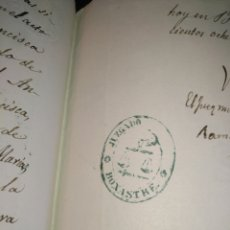 Selos: CERTIFICADO DE DEFUNCIÓN MANUSCRITO SIGLO XIX SELLO FISCAL 11 1881 50CTS PESETA MATA SELLOS BONASTRE. Lote 216458703