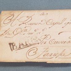 Sellos: PREFILATELIA CATALUÑA SIGLO XVIII 1751 BARNA Y RECUADRO EN NEGRO MANUSCRITO CERVERA TARROGA. Lote 216785996