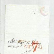 Selos: CIRCULADA Y ESCRITA CONFLICTO CARLISTA ZONA REUS 1835 DE BARCELONA A TARRAGONA. Lote 217503600