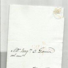 Selos: CIRCULADA Y ESCRITA DISEÑOS 1835 DE BARCELONA A TARRAGONA. Lote 217506263
