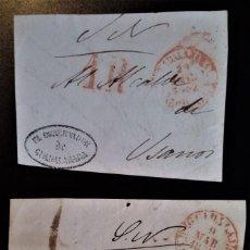 Sellos: PREFILATELIA GUADALAJARA 1852 GOBERNADOR DE GUADALAJARA DIFERENTES PORTEOS FRONTAL. Lote 218508896
