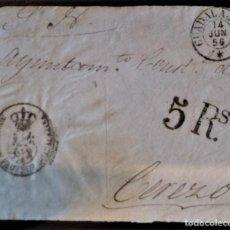 Sellos: PREFILATELIA GUADALAJARA 1856 DIPUTACIÓN DE GUADALAJARA PORTEO 5 REALES FRONTAL A CEREZO. Lote 218509465