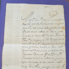 Sellos: HISTORIA POSTAL CARTA MANUSCRITA CON SELLO PLACA LACRADO DE METROPOLITANA TARRAGONA SIGLO XVIII. Lote 218905061