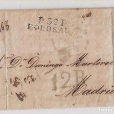 Sellos: PREFILATELIA. CARTA ENTERA. BURDEOS A MADRID. 1826. NOTICIAS DE CUBA.. Lote 219444212