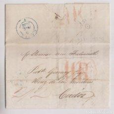 Sellos: PREFILATELIA. CARTA ENTERA. DUBLÍN A CÁDIZ. 1836. VÍA FALMOUTH. DORSO LLEGADA. Lote 219445235
